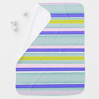 Conception multicolore de rayures couvertures de bébé