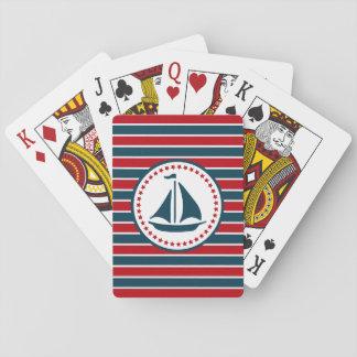 Conception nautique cartes à jouer