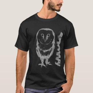Conception neigeuse fraîche de T-shirt de hibou