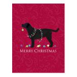 Conception noire de Joyeux Noël de laboratoire Cartes Postales
