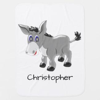 Conception personnalisée d'âne couvertures pour bébé