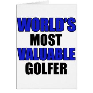 conception précieuse de golfeur cartes de vœux