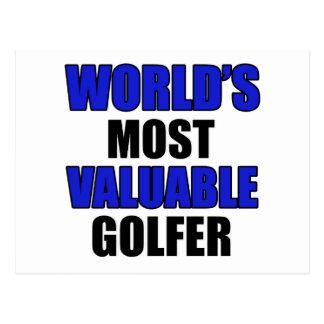 conception précieuse de golfeur cartes postales