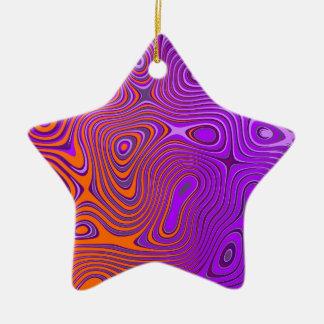 Conception psycho purple oranges ornement étoile en céramique