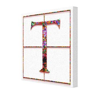 """Conception rouge 8"""" de Trajanus de monogramme de Toiles"""