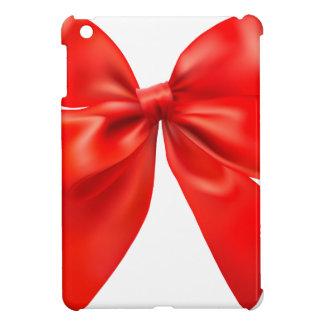 Conception rouge de cravate d'arc coque pour iPad mini
