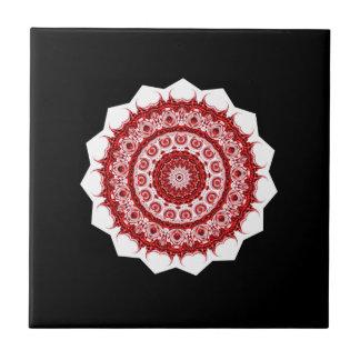 Conception rouge et blanche vintage marocaine petit carreau carré