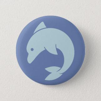 Conception simple de dauphin badge rond 5 cm