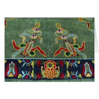 Conception tibétaine traditionnelle de tapis carte