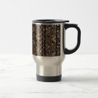 Conception tribale africaine mug de voyage en acier inoxydable