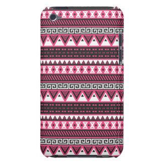 Conception tribale aztèque rose et noire de motif coques iPod Case-Mate