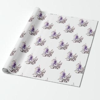 Conception tribale de tatouage de licorne papier cadeau