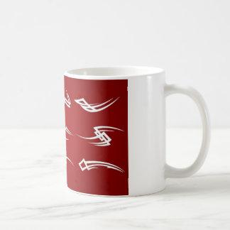 Conception tribale de vecteurs mug blanc