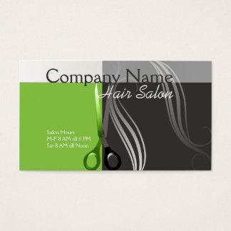 Conception verte et grise de carte de visite