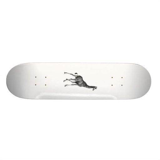 Conception vintage animale de dessin de plein corp skateboards personnalisés