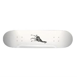 Conception vintage animale de dessin de plein corp skateboard old school 18,1 cm
