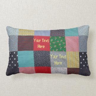 conception vintage de tissu de patchwork de style coussin rectangle