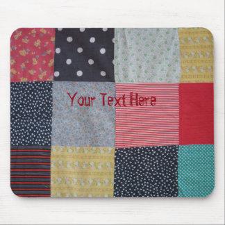 conception vintage de tissu de patchwork de style tapis de souris
