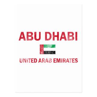 Conceptions d'Abu Dhabi EAU Carte Postale