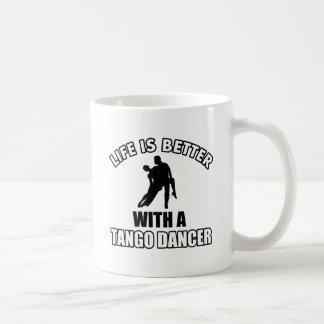 Conceptions de danse de tango tasse