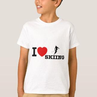 conceptions de ski d'eau t-shirt