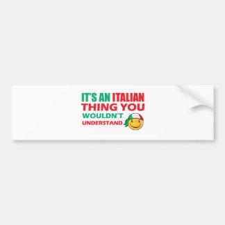 Conceptions de smiley de l'Italie Autocollant De Voiture