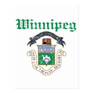 Conceptions de Winnipeg Carte Postale