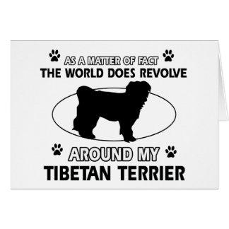 Conceptions drôles de terrier tibétain carte