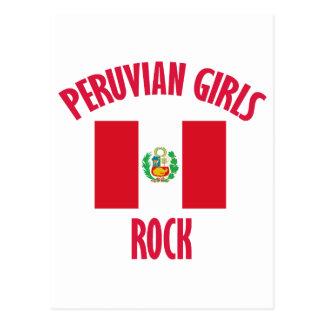 CONCEPTIONS péruviennes de roche de filles Cartes Postales