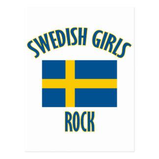 CONCEPTIONS suédoises de roche de filles Carte Postale