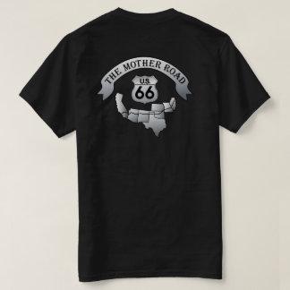Conduisez le noir du T-shirt de 66 de mère de