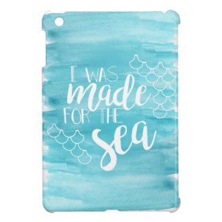 Conduit au coque ipad d'aquarelle de mer