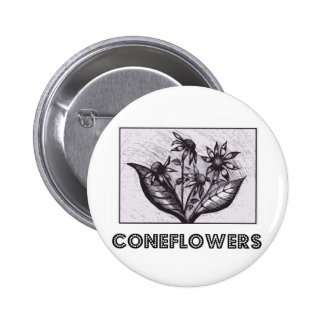 Coneflowers Badge Rond 5 Cm