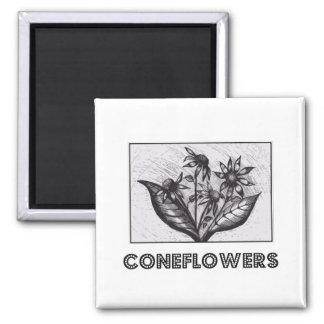 Coneflowers Magnet Carré