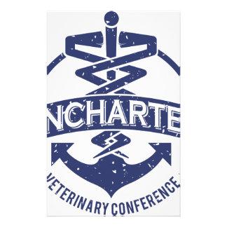 Conférence vétérinaire inexplorée papier à lettre personnalisable