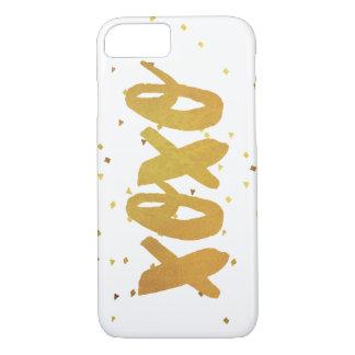 Confettis de miroitement d'or de XOXO Coque iPhone 7