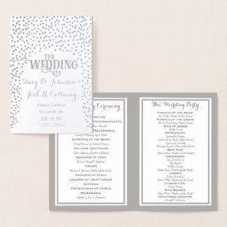Confettis de PROGRAMME de MARIAGE d'aluminium