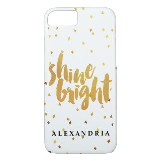 Confettis lumineux d'or d'éclat coque iPhone 8/7