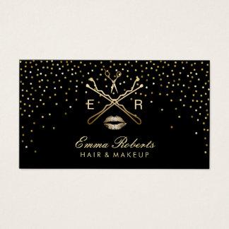 Confettis modernes de scintillement de coiffeur de cartes de visite
