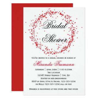Confettis rouges - invitation nuptiale de la