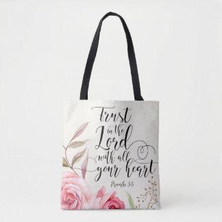 Confiance dans le seigneur sac fourre-tout