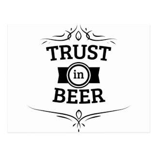Confiance en bière carte postale