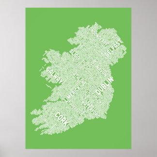 Configuration de texte de ville de l'Irlande Eire