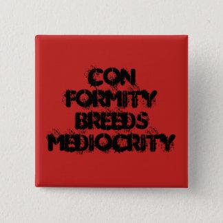 Conformité Badge Carré 5 Cm