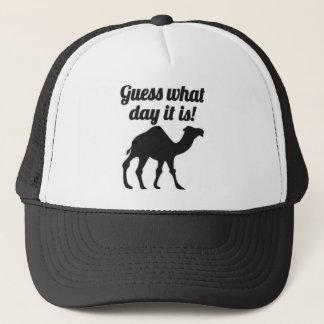 Conjecture quel jour c'est ? Casquette de chameau