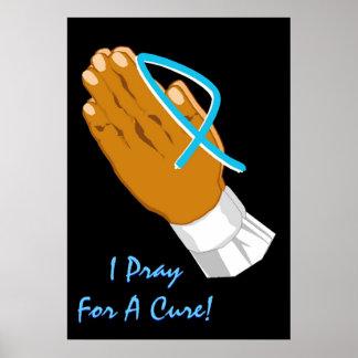 Conscience de cancer de la prostate que je prie po posters