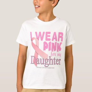 Conscience de cancer du sein pour la fille t-shirt