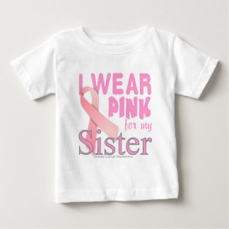 conscience de cancer du sein pour la soeur t-shirt pour bébé