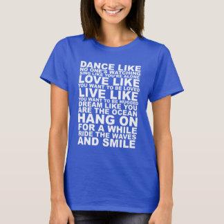 Conseil poétique de la vie t-shirt