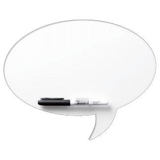 Conseil sec d'effacement de bulle ovale faite sur
